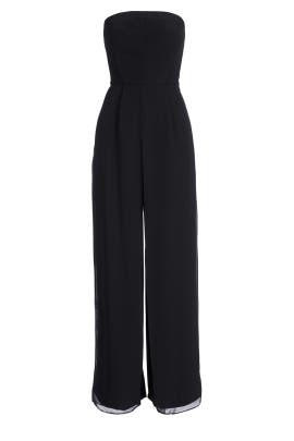Black Celine Jumpsuit by Halston Heritage