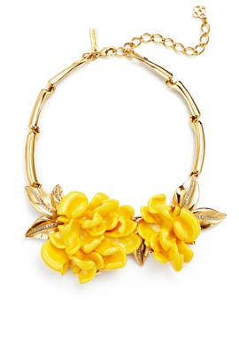 Marigold Resin Flower Necklace by Oscar de la Renta