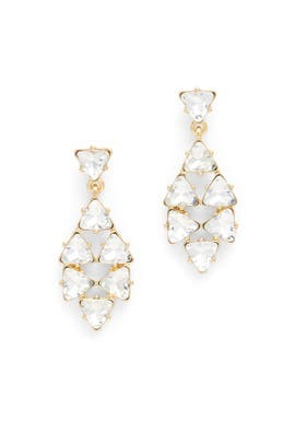 Crystal Direction Drop Earrings by Slate & Willow Accessories