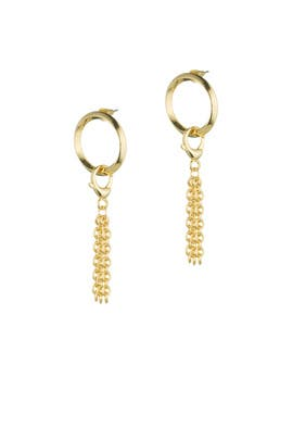 O-Ring Door Knocker Earrings by Eddie Borgo