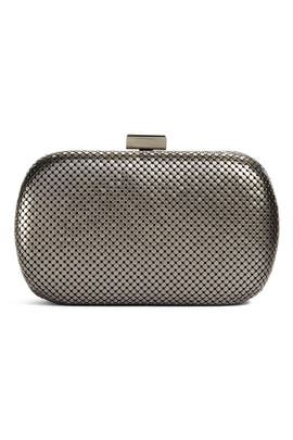 Chrome Lattice Clutch by Whiting & Davis
