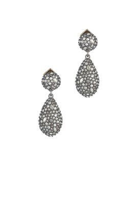 Crystal Encrusted Earrings by Alexis Bittar