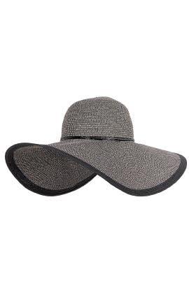 Black Floppy Hat by Echo Accessories