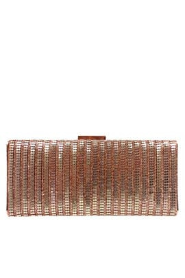 Rose Gold Metal Mesh Minaudiere by Sondra Roberts
