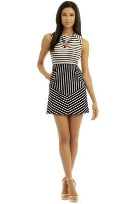 10 CROSBY DEREK LAM - Day and Night Stripe Dress