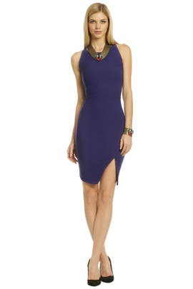 Elizabeth and James - Purple Bardot Dress