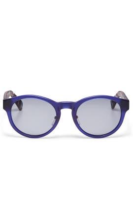 Multicolor Blue Sunglasses by Gucci