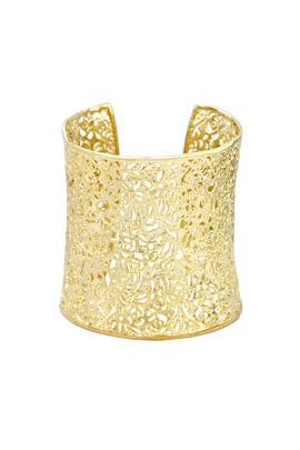 Gold Ainsley Cuff by Kendra Scott