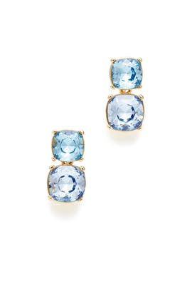 Shades of Blue Crystal Drop Earrings by Kenneth Jay Lane