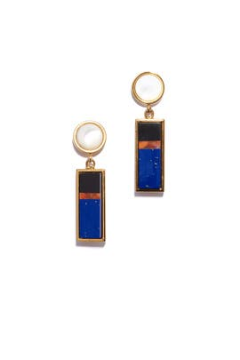 Colorblock Regal Column Earrings by Lizzie Fortunato