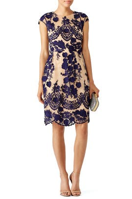 Marchesa Notte - Navy Mena Dress