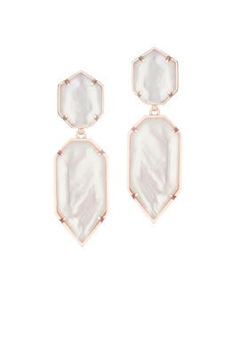 Rose Gold Perla Earrings by Kendra Scott