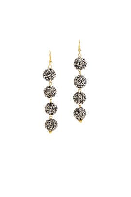 Gunmetal Bauble Earrings by Mad Jewels