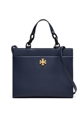 Navy Kira Small Tote by Tory Burch Accessories