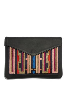 Graphic Stripe Midnight Cruiser Clutch by Lizzie Fortunato