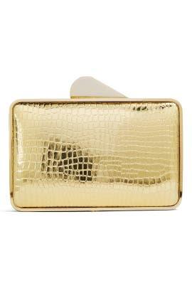 Lori Gold Croc Minaudiere by Franchi