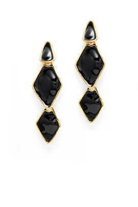 Black Ink Earrings by Kenneth Jay Lane