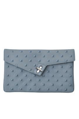 Blue Stud Milck Clutch by ela Handbags