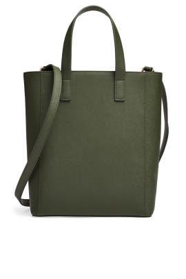 Khaki Green Shopper Tote by Tome x TDE