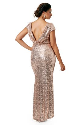 Shimmering Blush Gown by Badgley Mischka