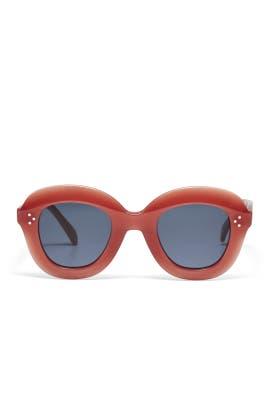 Pink Lola Round Sunglasses by Céline
