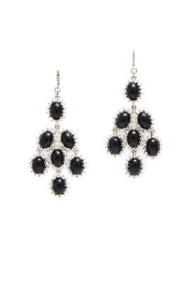 Black Chandelier Drop Earrings by Kenneth Jay Lane