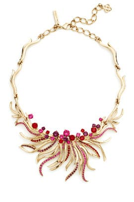 Pink Crystal Sea Swirl Necklace by Oscar de la Renta