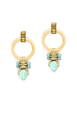 Gold Lottie Earrings by Elizabeth Cole
