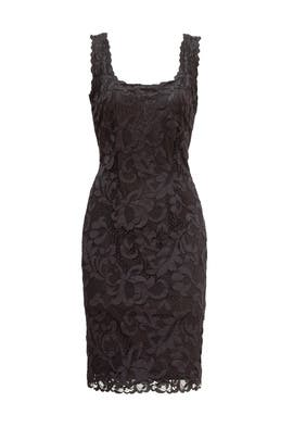 Black Scoop Lace Sheath by Josie Natori