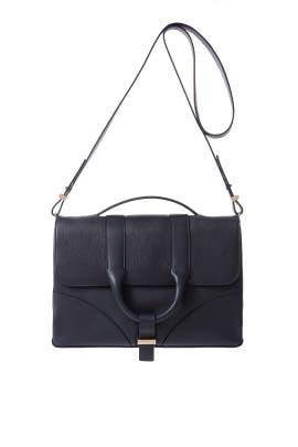 Navy Hanne Messenger Bag by Jason Wu Accessories