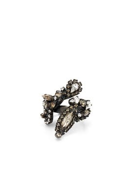 Crystal Metallic Cluster Ring by Erickson Beamon