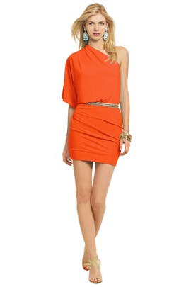 MSGM - Sun Orange Allegra Dress