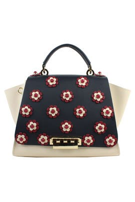 Floral Eartha Iconic Handbag by ZAC Zac Posen Handbags