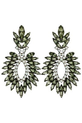 Jagged Feather Earrings by Elizabeth Cole