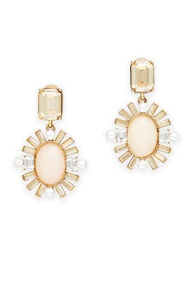 Soft Petal Oval Earrings by Oscar de la Renta