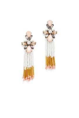 Multi Beaded Tassel Earrings by Slate & Willow Accessories