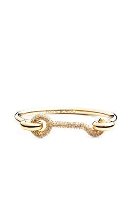 Pave Door Latch Cuff by Eddie Borgo