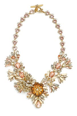 Petunia Stone Statement Necklace by Marchesa Jewelry