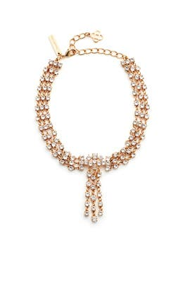 Gold Crystal Tassel Collar by Oscar de la Renta