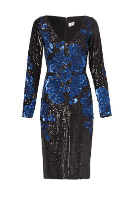 Badgley Mischka - Blue Blooms Dress