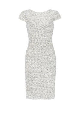 Silver Swank Sequin Sheath by Badgley Mischka