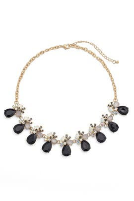 Crystal and Black Statement Necklace by Slate & Willow Accessories