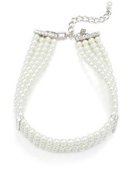 Crystal Edges Pearl Choker by Kenneth Jay Lane