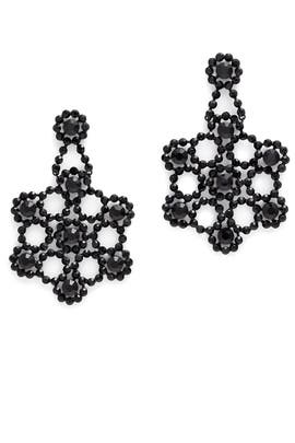 Black Crystal Lace Earrings by kate spade new york accessories