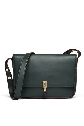 Bottle Green Cynnie Shoulder Bag by Elizabeth and James Accessories