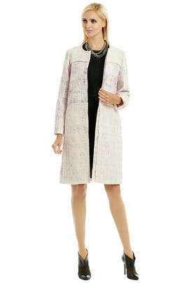 Shimmer Tweed Coat by Peter Som