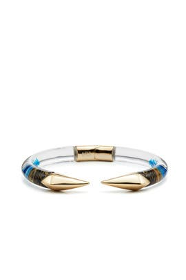 Indigo Mirrored Pyramid Brake Hinge Bracelet by Alexis Bittar