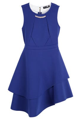 Cobalt Flounce Dress by ELOQUII