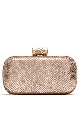 Rose Gold Oblong Minaudiere by Halston Heritage Handbags