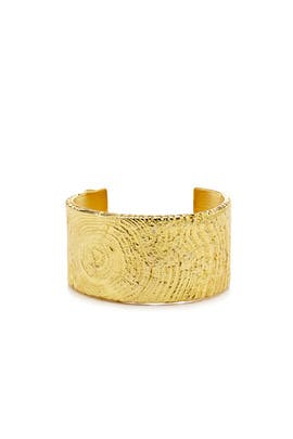 Golden Rupture Cuff by Tom Binns